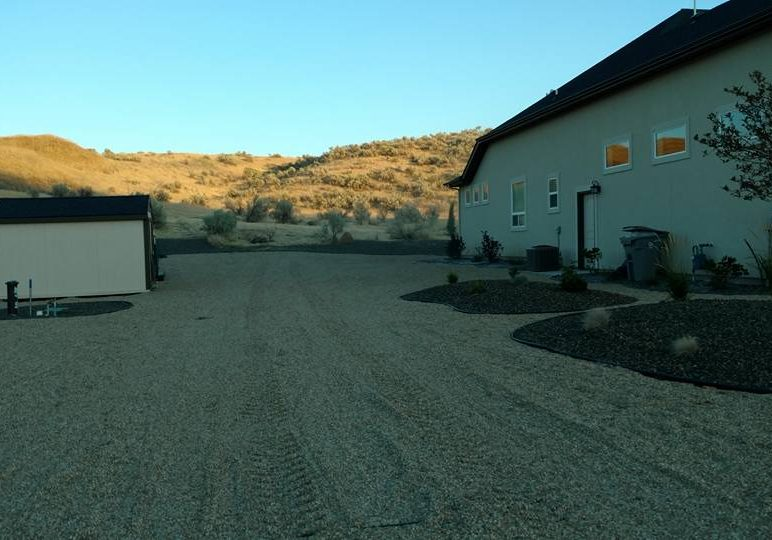 Gravel Road And Parking Lot Grading